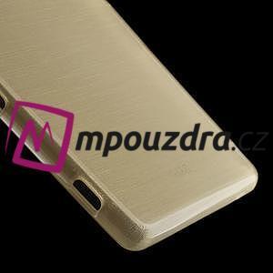 Gelové kartáčové pouzdro na Sony Xperia Z3 D6603 - zlatavé - 4