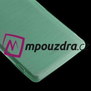 Gélové kartáčové puzdro pre Sony Xperia Z3 D6603 - cyan - 4
