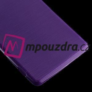 Gélové kartáčové puzdro pre Sony Xperia Z3 D6603 - fialové - 4
