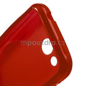 Gélové S-line puzdro pre HTC Desire 200- červené - 4