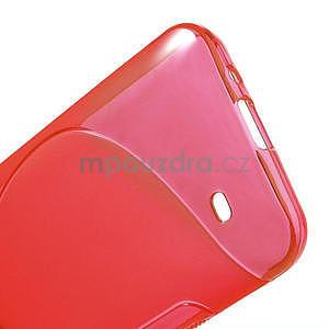 Gélové S-line puzdro pre HTC Desire 300 Zara mini- červené - 4