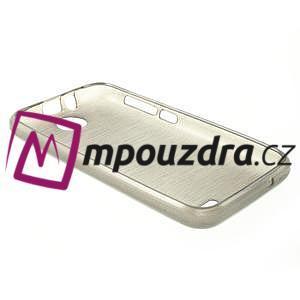 Gélové kartáčované puzdro na HTC Desire 310- šedé - 4