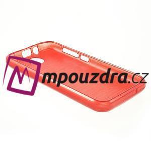 Gélové kartáčované puzdro na HTC Desire 310- červené - 4
