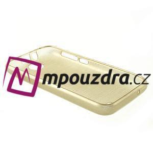 Gélové kartáčované puzdro na HTC Desire 310- zlaté - 4