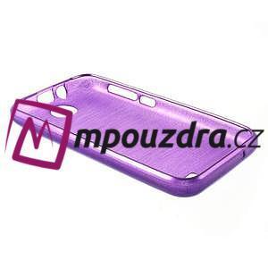 Gélové kartáčované puzdro na HTC Desire 310- fialové - 4