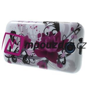 Gélové puzdro pre HTC Desire 310- fialový kvet - 4