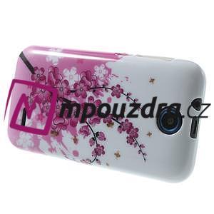 Gélové puzdro pre HTC Desire 310- kvitnúca vetva - 4
