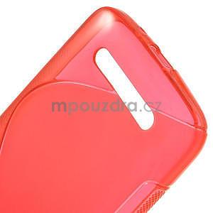Gélové puzdro pre HTC Desire 500- červené - 4