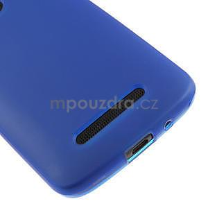 Gélové matné puzdro pre HTC Desire 500- modré - 4