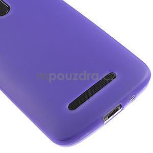 Gélové matné puzdro pre HTC Desire 500- fialové - 4