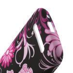 Gélové puzdro pre HTC Desire 500- květiny a motýli - 4/4