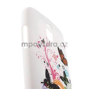 Gélové puzdro pre HTC Desire 500- farebné motýli - 4