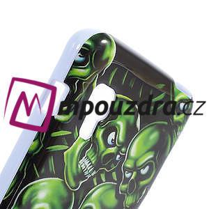 Gelová puzdro pre LG Optimus L5 Dual E455- zelené lebky - 4