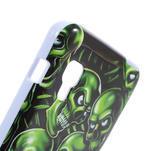 Gelová puzdro pre LG Optimus L5 Dual E455- zelené lebky - 4/5