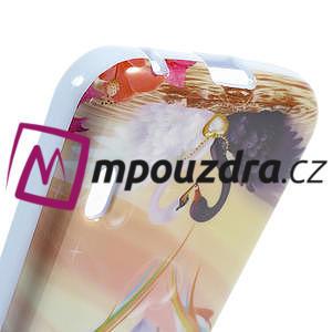 Gelová puzdro pre LG Optimus L5 Dual E455- labutí srdce - 4