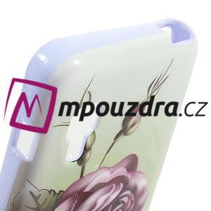 Gelová puzdro pre LG Optimus L5 Dual E455- Růže - 4
