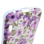 Gelová puzdro pre LG Optimus L5 Dual E455- živé květy - 4/4