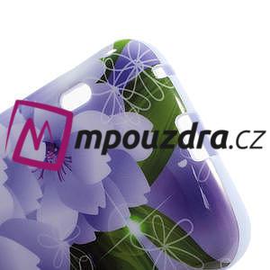 Gelová puzdro pre LG Optimus L5 Dual E455- elegantný fialové květy - 4