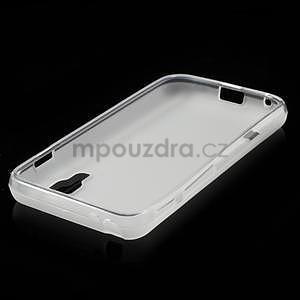 Matné gélové puzdro pre LG Optimus L5 Dual E455- biele - 4