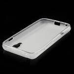Matné gélové puzdro pre LG Optimus L5 Dual E455- biele - 4/4