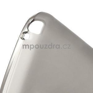 Matné gélové puzdro pre LG Optimus L5 Dual E455- sivé - 4