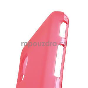 Matné gélové puzdro pre LG Optimus L5 Dual E455- červené - 4