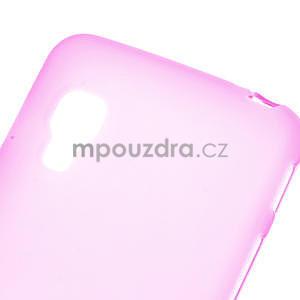 Matné gélové puzdro pre LG Optimus L5 Dual E455- ružové - 4