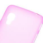 Matné gélové puzdro pre LG Optimus L5 Dual E455- ružové - 4/4