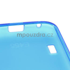 Matné gélové puzdro pre LG Optimus L5 Dual E455- modré - 4