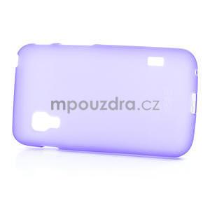 Matné gélové puzdro pre LG Optimus L5 Dual E455-fialová - 4