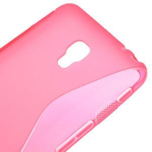 Gélové S-line puzdro pre LG Optimus F6 D505- ružové - 4