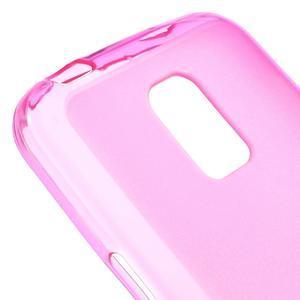 Gelové matné pouzdro na Samsung Galaxy S5 mini G-800- růžové - 4