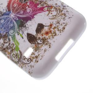 Gélové puzdro pre Samsung Galaxy S5 mini G-800- farebný motýl - 4