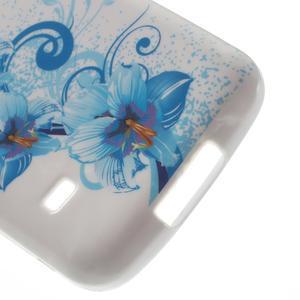 Gelové pouzdro na Samsung Galaxy S5 mini G-800- modrá lilie - 4