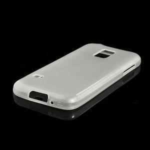 Kartáčové pouzdro na Samsung Galaxy S5 mini G-800- bílé - 4