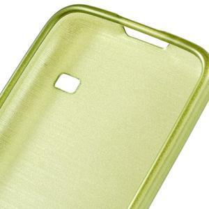 Kartáčové puzdro pre Samsung Galaxy S5 mini G-800- zelené - 4