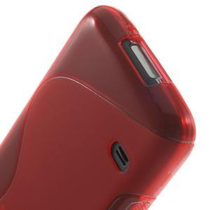 Gélové S-line puzdro pre Samsung Galaxy S5 mini G-800- červené - 4