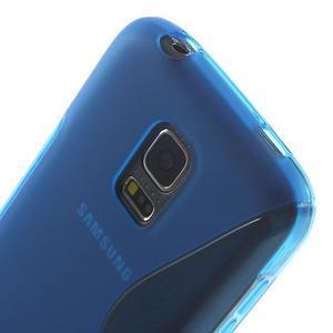 Gélové S-line puzdro pre Samsung Galaxy S5 mini G-800- modré - 4