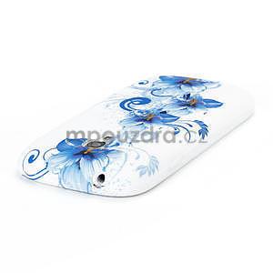 Bílé gélové puzdro pre Samsung Galaxy S3 mini / i8190 - vzor Lily - 4