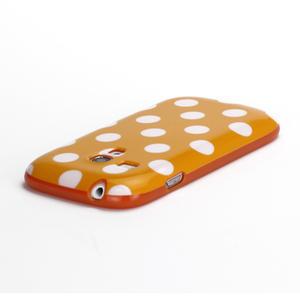Gélové puzdro PUNTÍK pre Samsung Galaxy S3 mini i8190- oranžové - 4