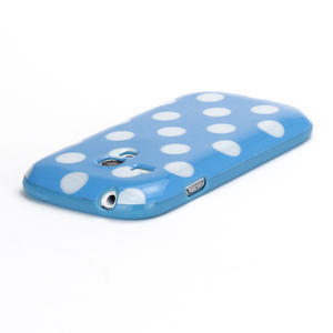 Gélové puzdro PUNTÍK pre Samsung Galaxy S3 mini i8190- modré - 4