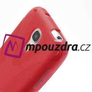 Gelové X pouzdro pro Samsung Galaxy S4 mini i9190- červené - 4