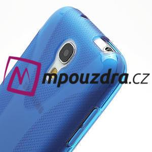 Gelové X pouzdro pro Samsung Galaxy S4 mini i9190- modré - 4