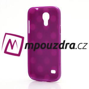 Gélový Puntík pro Samsung Galaxy S4 mini i9190- fialové - 4