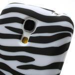 Gelové pouzdro pro Samsung Galaxy S4 mini i9190- bílá zebra - 4/6