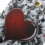 Gélové puzdro pro Samsung Galaxy S4 mini i9190- srdca červené - 4/5