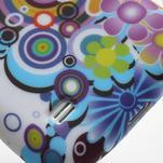 Gélové puzdro pro Samsung Galaxy S4 mini i9190- farebné kvety - 4/5