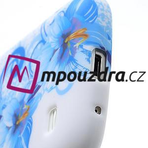 Gélové puzdro pro Samsung Galaxy S4 mini i9190- modrá lilie - 4