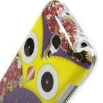 Gélové puzdro pre Samsung Galaxy S4 mini i9190- sova fialová - 4/5