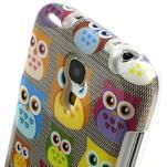 Gelové pouzdro na Samsung Galaxy S4 mini i9190- multi sovy - 4/5